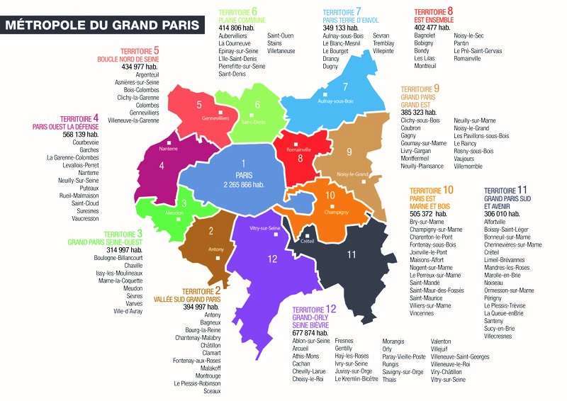 To invest in Grand Paris - carte du territoire - Un toit à Paris